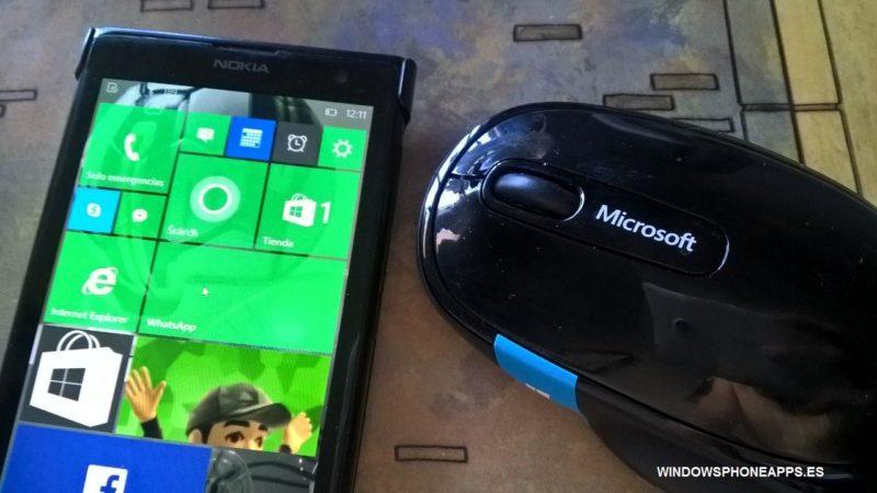 windows 10 mobile con raton bluetooth