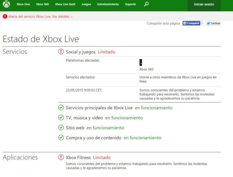 xbox live problemas
