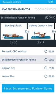 Runtastic Six Pack, aplicación para pulir nuestros abdominales, llega a Windows Phone
