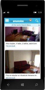 Pisos y Casas (Flats and Houses), compra, vende o alquila tu casa desde Windows Phone