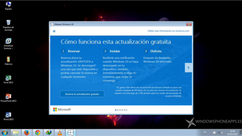 Podrás actualizar a Windows 10 desde Windows 7 y/o Windows 8.1 hasta el mes de diciembre