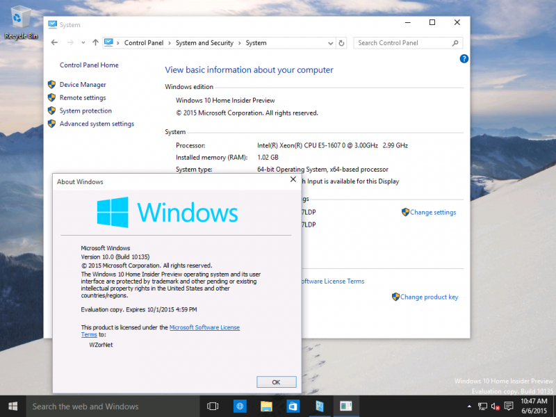 Build 10135 de Windows 10