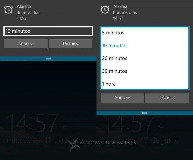 notificaciones interactivas w10 mobile