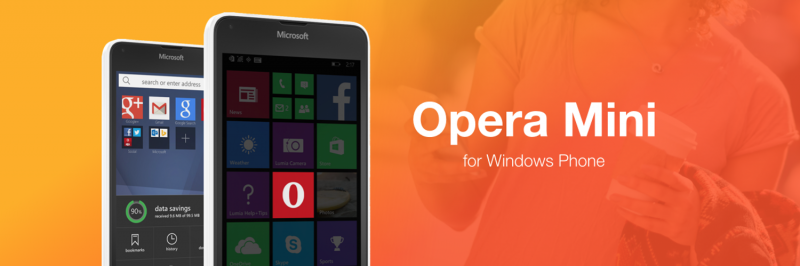 opera mini for Windows Phone