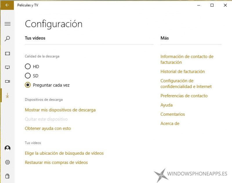 peliculas y TV about windows 10