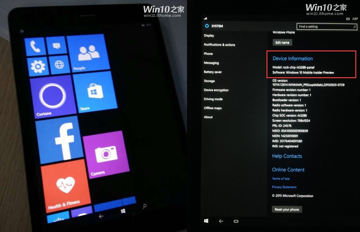 tablet ARM con Windows 10 Mobile