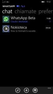 WhatsApp Beta añade notificaciones en la parte superior