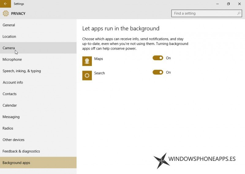 windows 10 build 10134 ajustes apps segundo plano