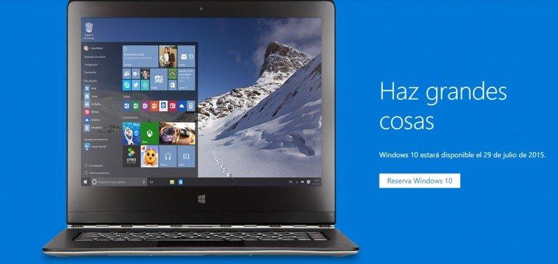 windows 10 lanzamiento
