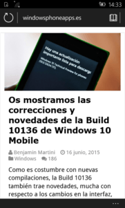 La Build 10136 de Windows 10 Mobile en imágenes