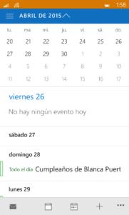 Capturas Build 10149 de Windows 10 Mobile