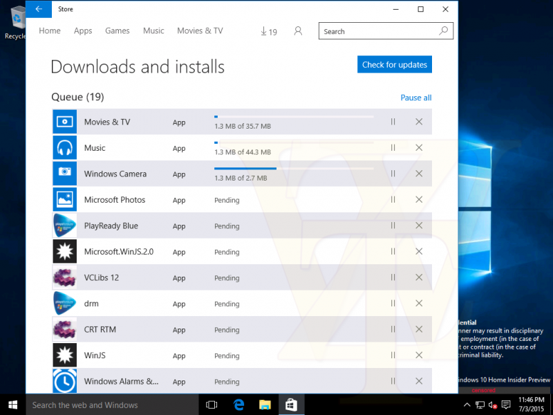 Primeras imágenes de la Build 10163 de Windows 10 confirman su enfoque a corrección de errores