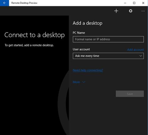 how to use microsoft remote desktop app windows 10