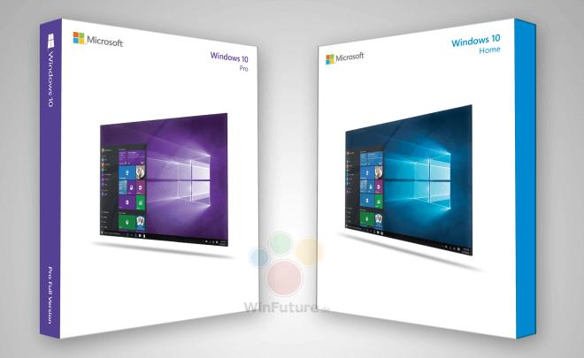cajas de ventas de Windows 10
