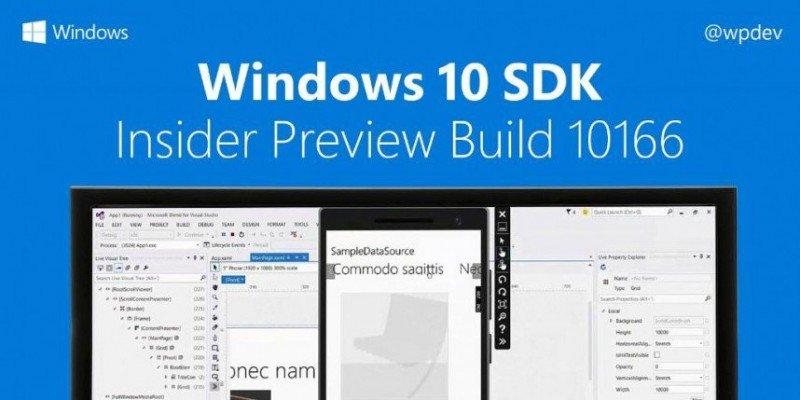 Windows 10 SDK Build 10166