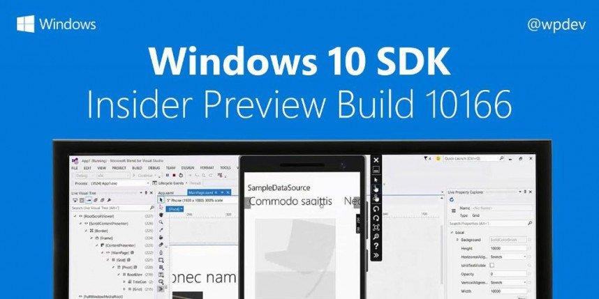 Windows 10 SDK Build 10166