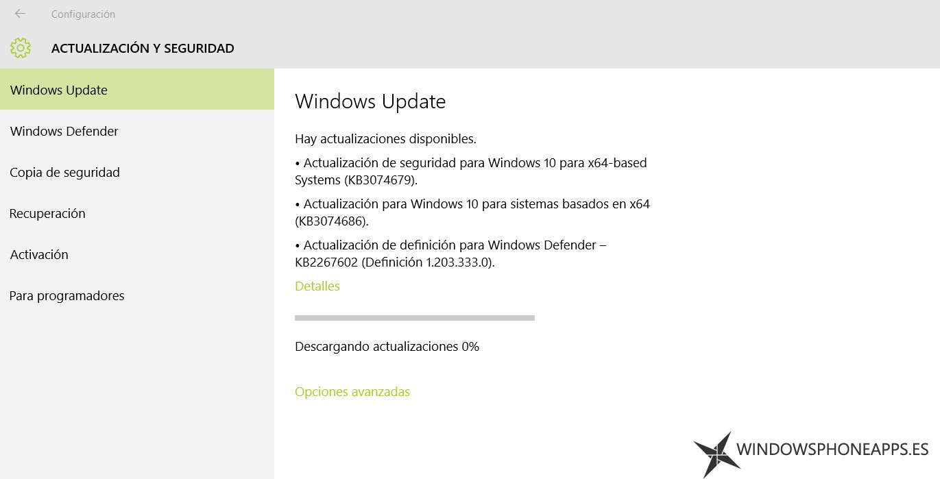 actualizacion windows 10 10240