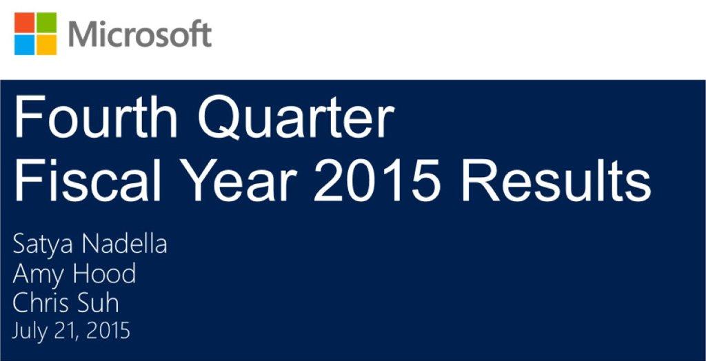 datos q4 2015 microsoft