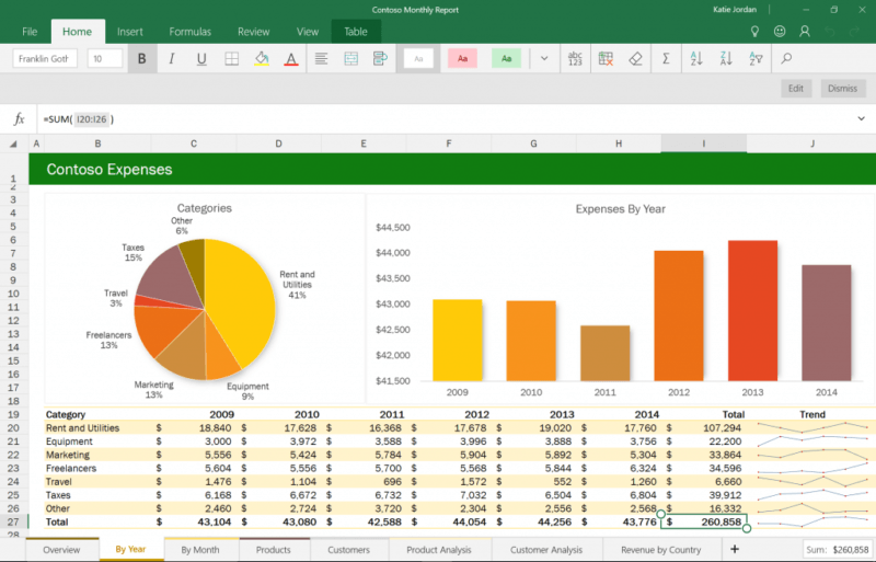 excel office mobile