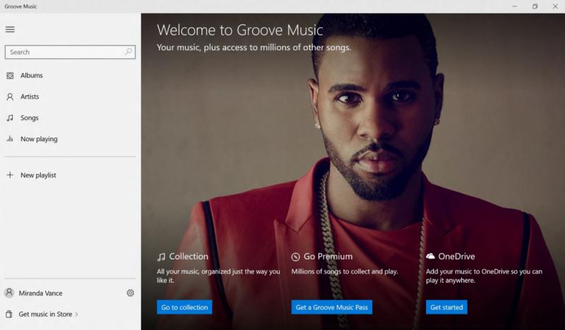 groove music app windows 10
