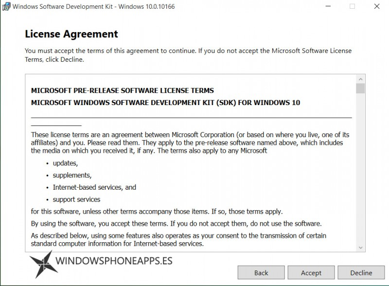 sdk windows 10 build 10166