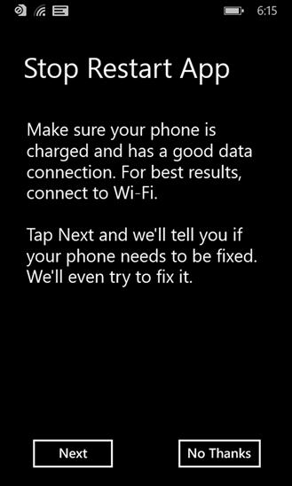 stop restart app