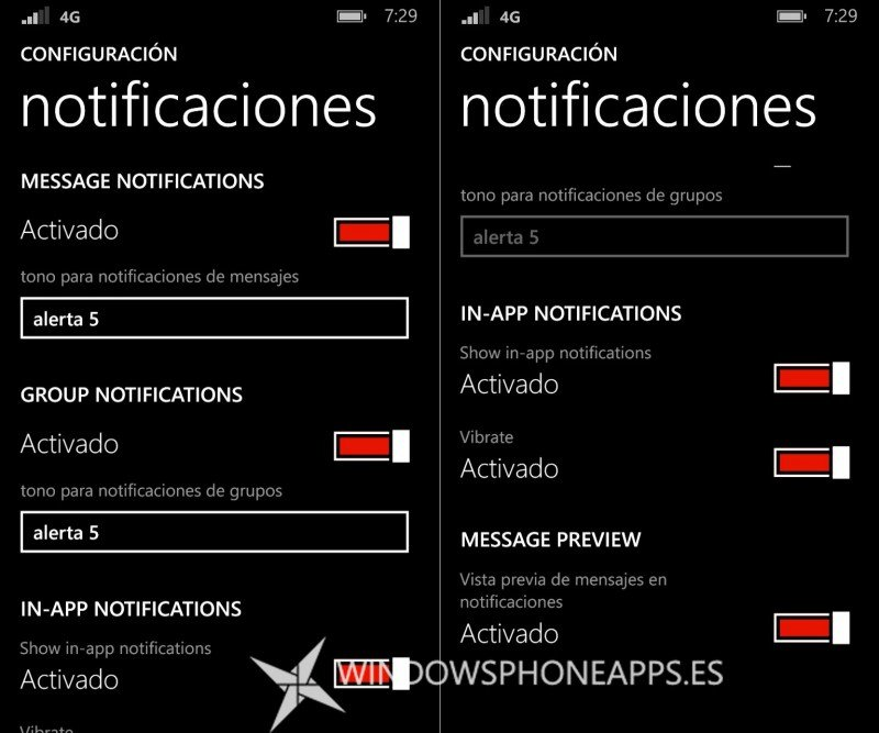 whatsapp notificaciones beta