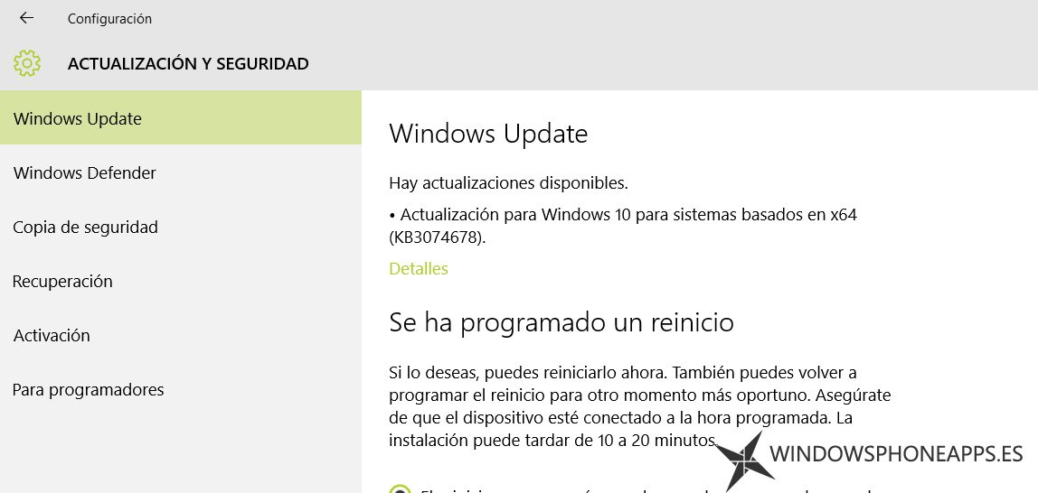 windows update kb3074678