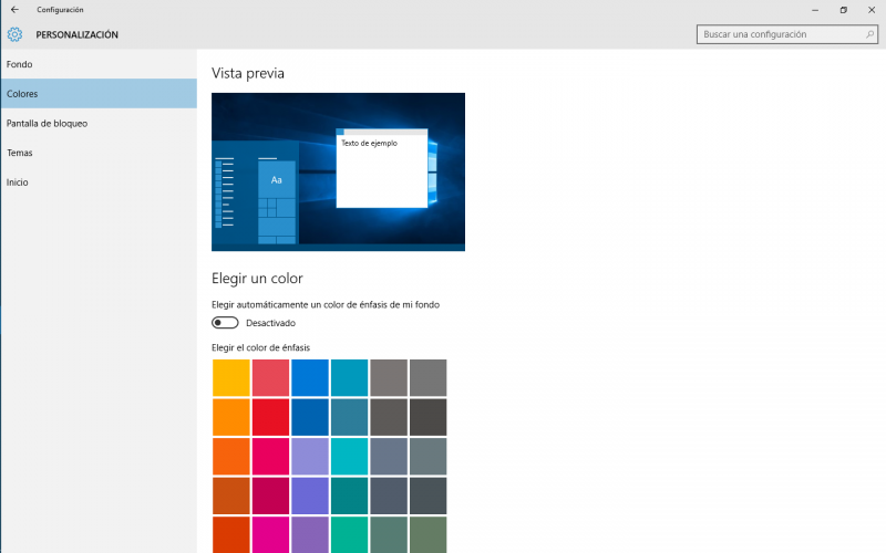 Windows 10 Color