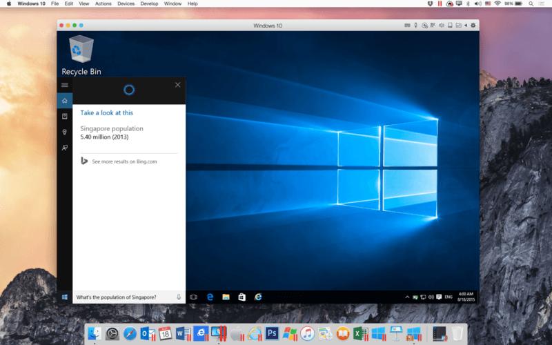 Cortana en Mac OS X