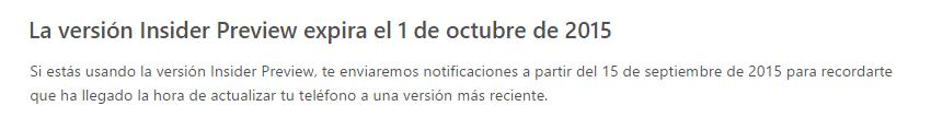 Windows 10 expira