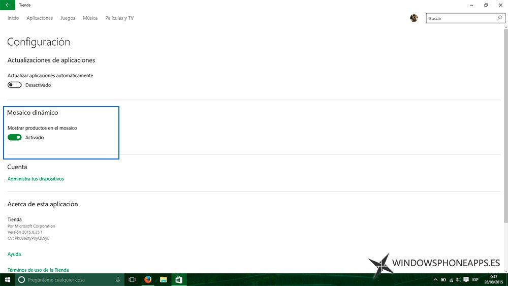 La tienda Windows 10
