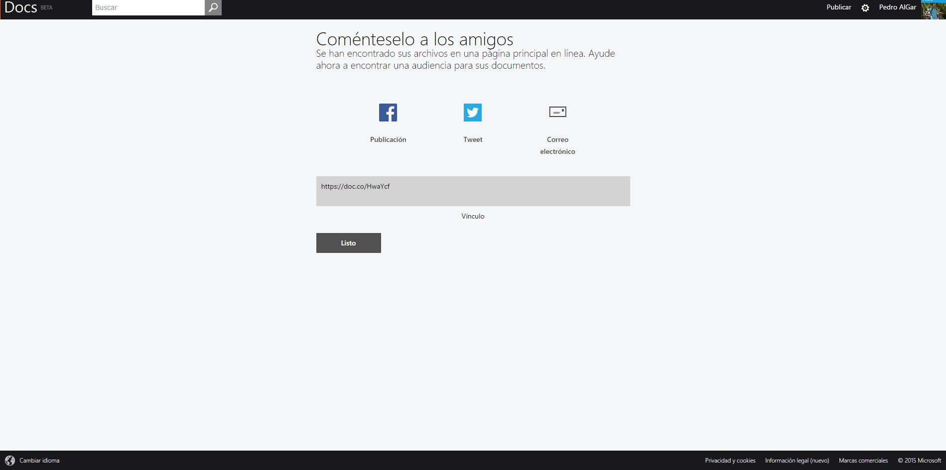 docs com comparte red social