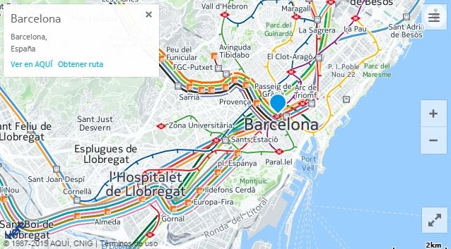 here maps barcelona