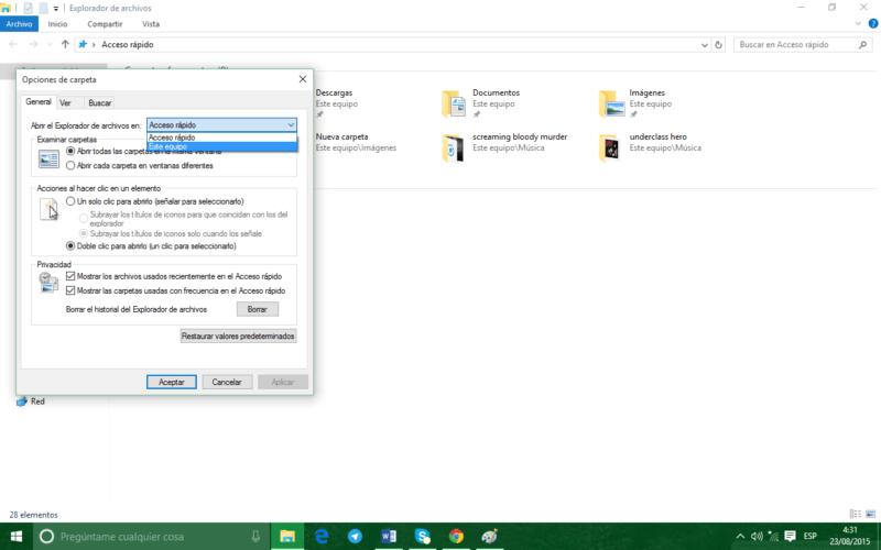¿Sabías que… puedes cambiar el acceso rápido del explorador en Windows 10?