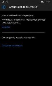 La Build 10536 de Windows 10 Mobile ha llegado a algunos usuarios después de todo [Actualizado con vídeo]