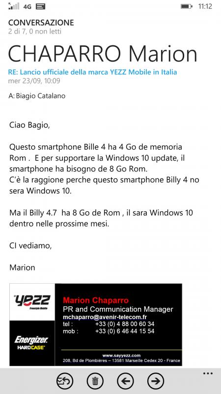Yezz Billy 4 - no Windows 10