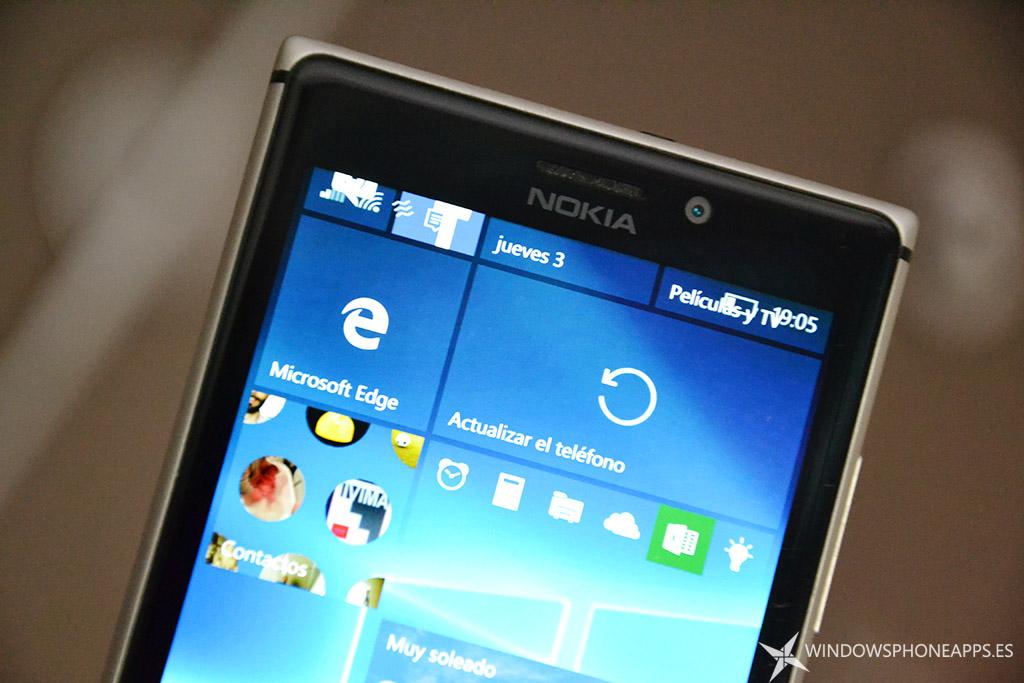 actualizar windows 10 mobile