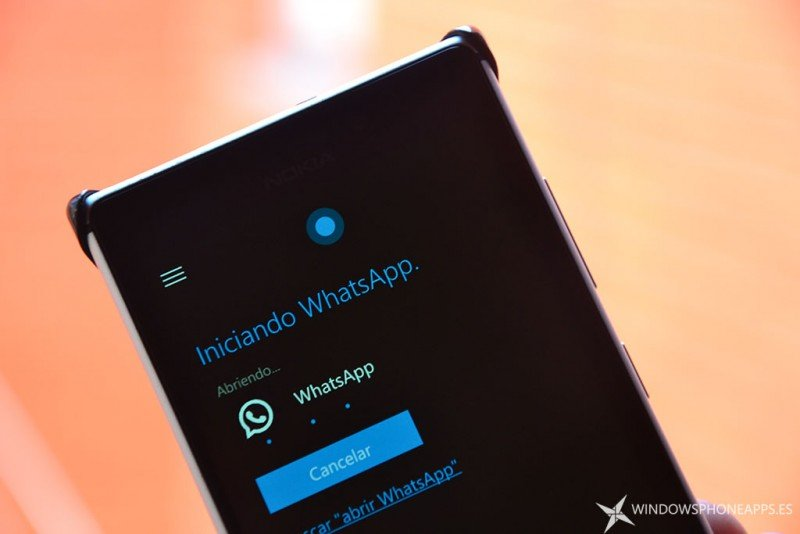 cortana - abrir whatsapp