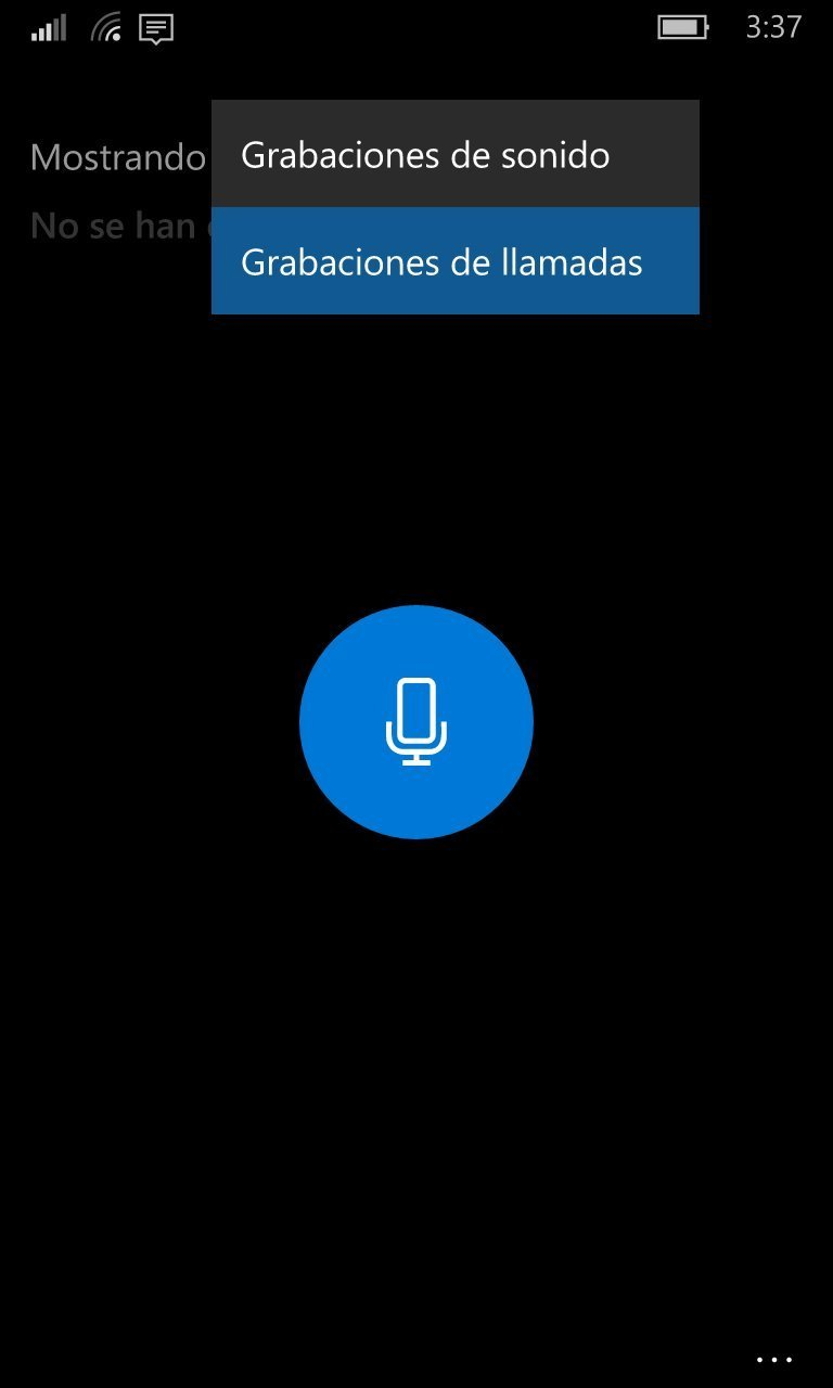 grabacion de llamadas window 10 movil