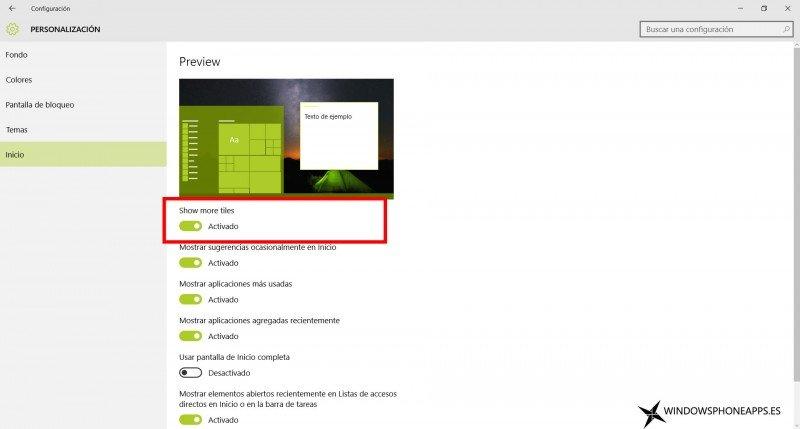 Galeria de la Build 10547 de Windows 10 para PC