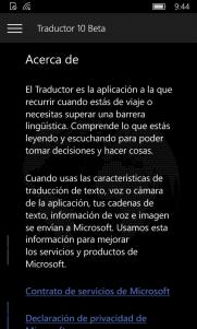 Acerca de Traductor 10 Beta