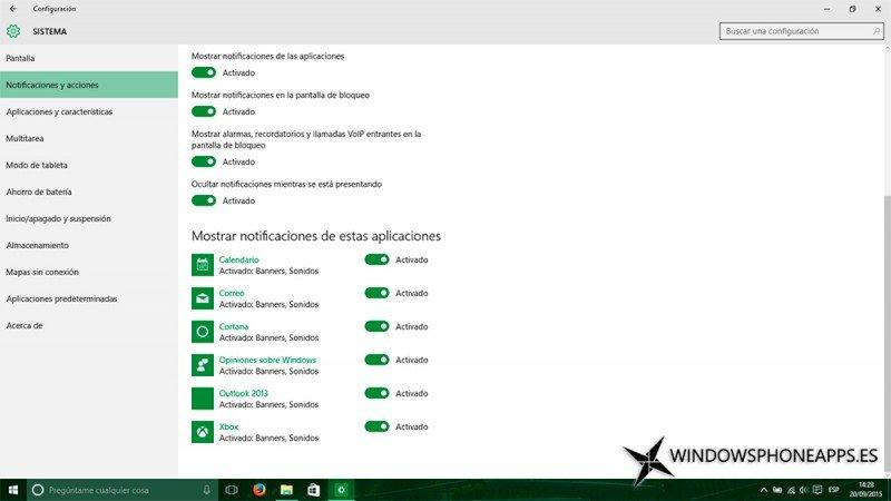 Imagen de la configuración de las notificaciones solucionadas de Windows 10