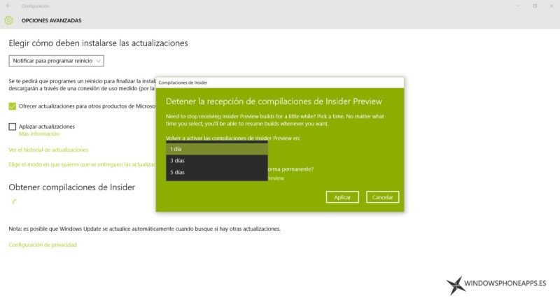 La Build 10547 de Windows 10 permite cambiar de cuenta Insider y dejar el programa unos días