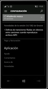 Teléfono de Microsoft y Groove Música se actualizan en Windows 10