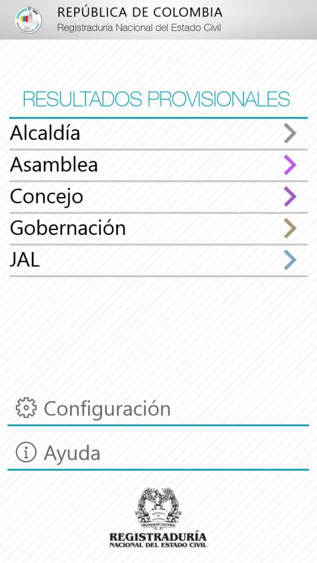 Sigue las Elecciones Colombianas de 2015 en tu teléfono con Windows
