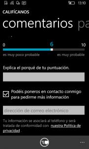 Califícanos en Windows Phone 8.1 (4)