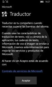 Condiciones de uso del Traductor