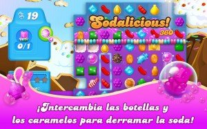 Pantalla de juego de Candy Crush Soda Saga Windows 10 PC