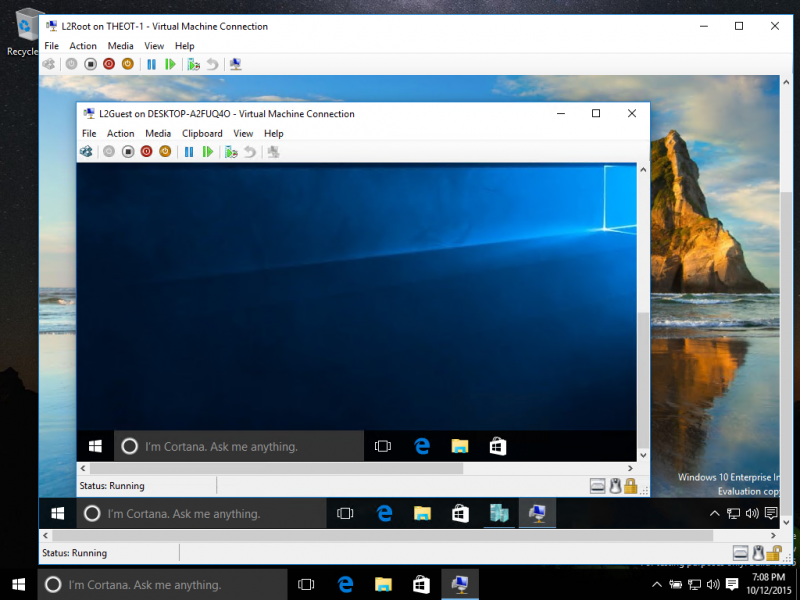 maquina virtual windows 10
